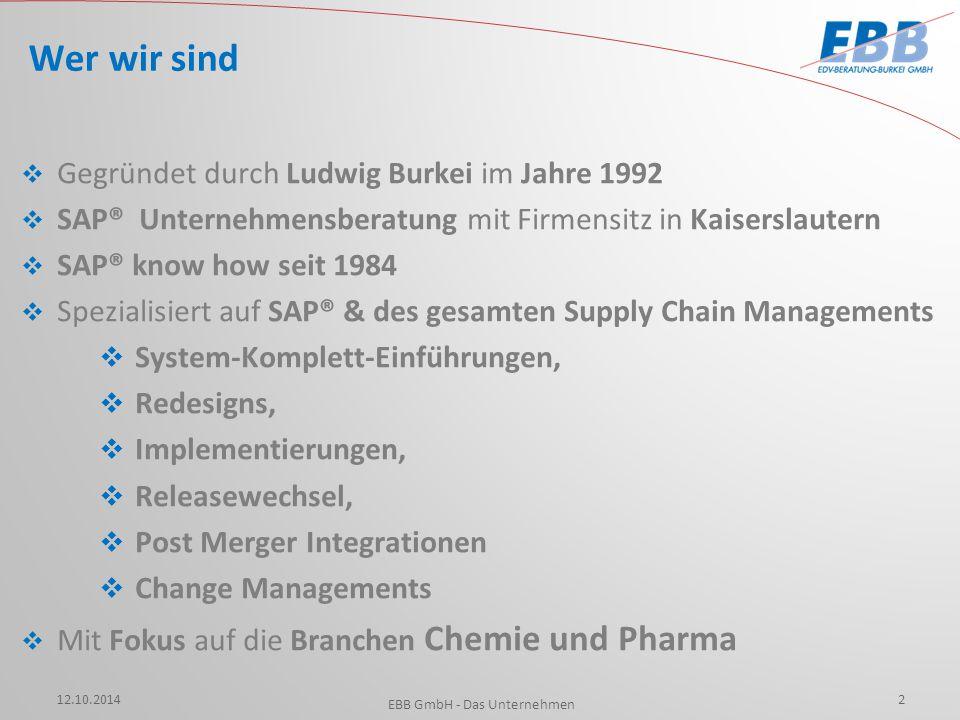  Gegründet durch Ludwig Burkei im Jahre 1992  SAP® Unternehmensberatung mit Firmensitz in Kaiserslautern  SAP® know how seit 1984  Spezialisiert a