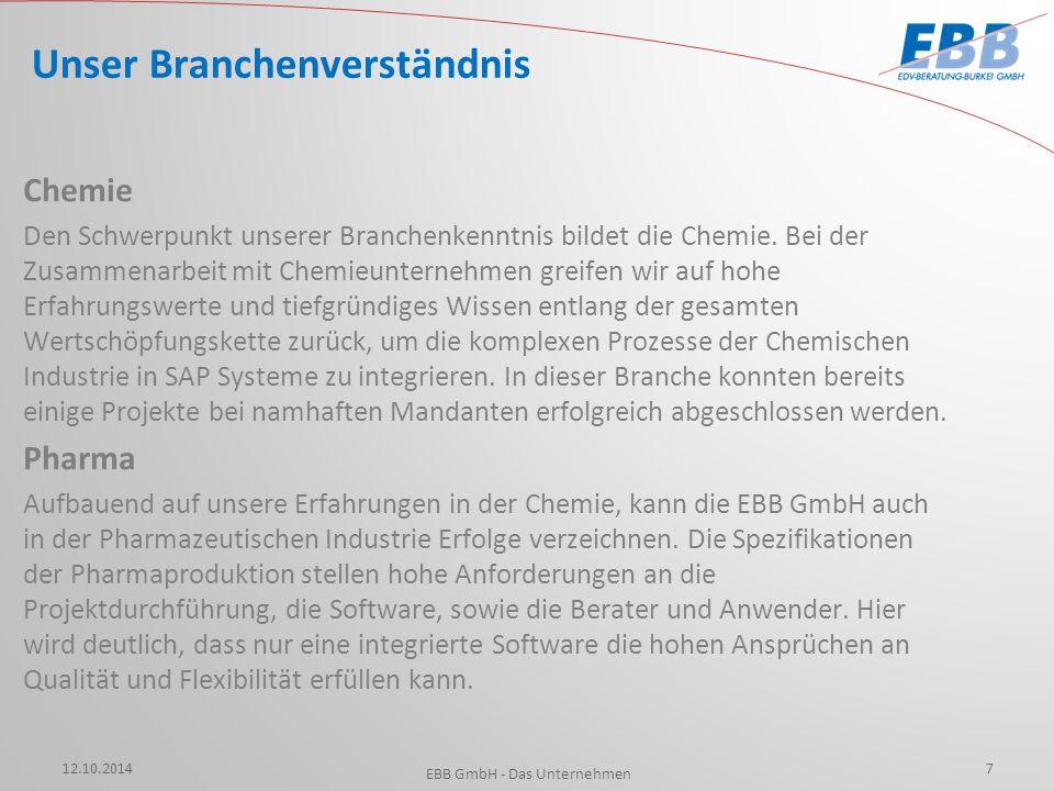 (Ehemals TICONA GmbH) (Ehemals Hoechst AG) 12.10.2014 EBB GmbH - Das Unternehmen 8 Unsere Referenzen