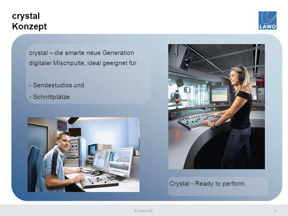 crystal Konzept 2 crystal – die smarte neue Generation digitaler Mischpulte, ideal geeignet für - Sendestudios und - Schnittplätze Crystal - Ready to