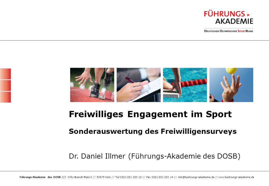 2 /// Das Ehrenamt im Sport ///21.10.2014 Bürgerschaftliches Engagement in Deutschland Mentalitäten-Wechsel - 1995 bis heute: Von der Ego- zur Bürgergesellschaft?