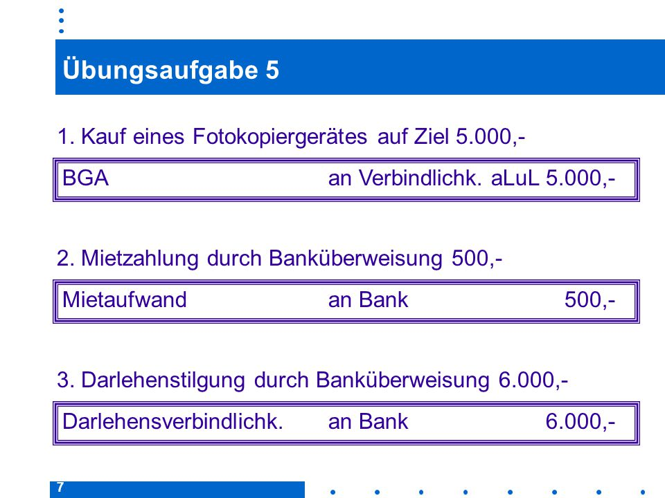 38 Korrekturbuchungen Vorsteuer/Umsatzsteuer Beispiel: Wareneinkauf auf Ziel 10.000,– € + 16 % MwSt.; nach 10 Tagen Begleichung der Rechnung unter Abzug von 3 % Skonto durch Überweisung.