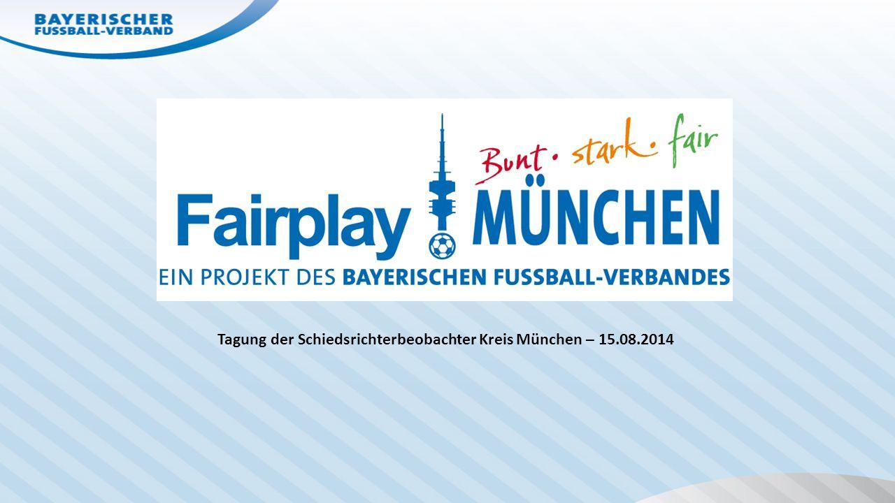 Tagung der Schiedsrichterbeobachter Kreis München – 15.08.2014