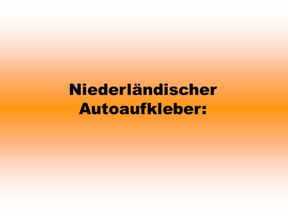 Niederländischer Autoaufkleber: