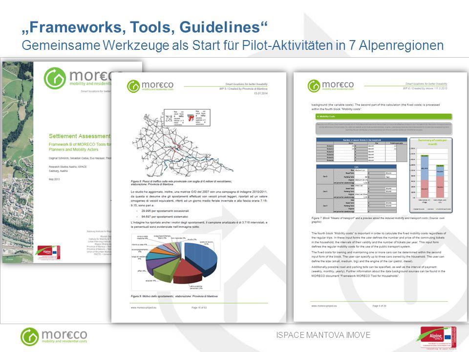 """ISPACE MANTOVA IMOVE """"Frameworks, Tools, Guidelines Gemeinsame Werkzeuge als Start für Pilot-Aktivitäten in 7 Alpenregionen"""