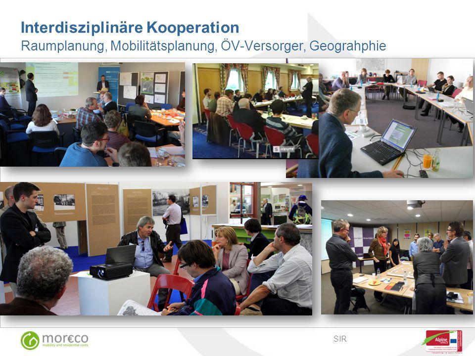 SIR Interdisziplinäre Kooperation Raumplanung, Mobilitätsplanung, ÖV-Versorger, Geograhphie