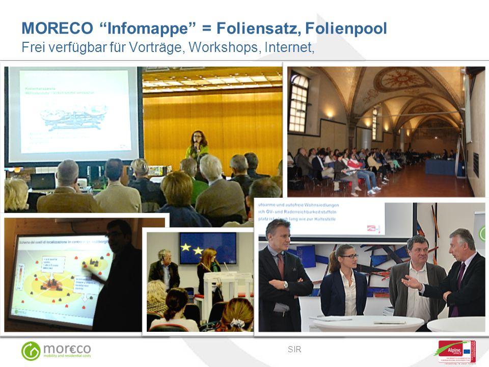 SIR MORECO Infomappe = Foliensatz, Folienpool Frei verfügbar für Vorträge, Workshops, Internet, photos: SIR UNCEM MANTOVA