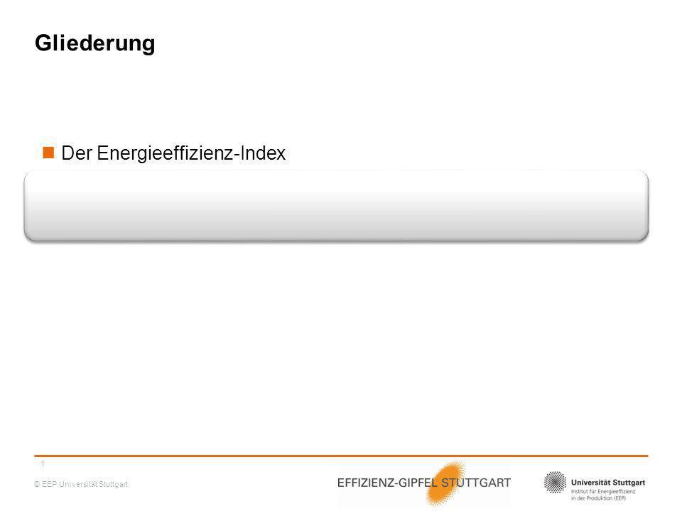 © EEP Universität Stuttgart Energieeffizienz-Index Sommer 2014 Der Energieeffizienz-Bedeutungsindex ist weiter gestiegen 45% der Unternehmen halten die Bedeutung von Energieeffizienz für verhältnismäßig groß 2 EBI -11,6% + 12,8% + 6,8%