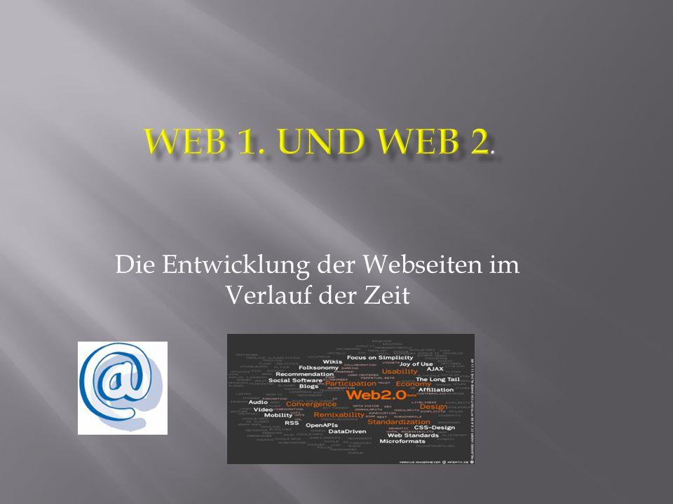 Die Entwicklung der Webseiten im Verlauf der Zeit