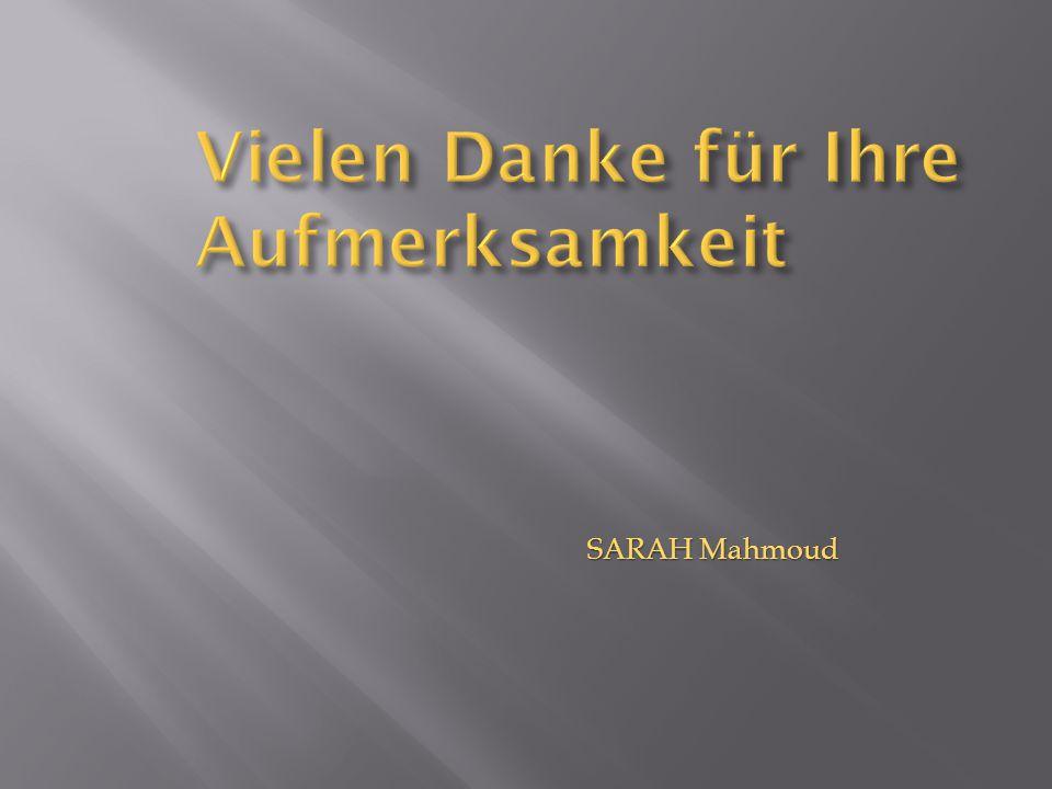 SARAH Mahmoud
