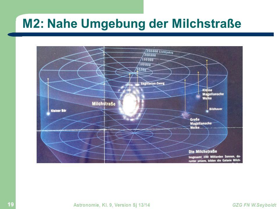 Astronomie, Kl. 9, Version Sj 13/14GZG FN W.Seyboldt 19 M2: Nahe Umgebung der Milchstraße