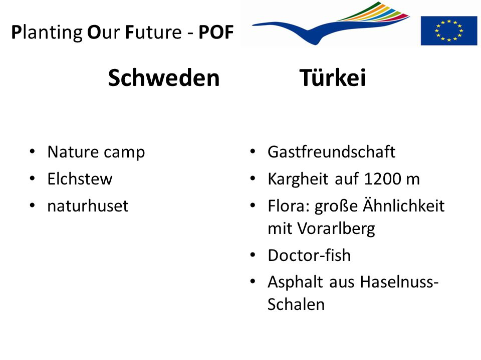 Planting Our Future - POF Weitere workshops Akranes, Island: 09.09.