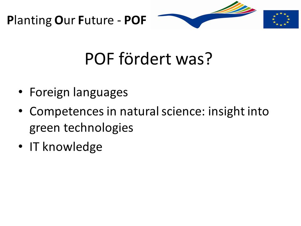 Planting Our Future - POF POF fördert was.