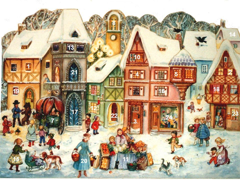1.Dezember: Anna, Berta und Carla freuen sich wegen der leckeren Zimtsterne auf Weihnachten.