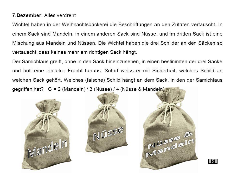 8.Dezember: Geschenk versteckt Lisa, Ursula, Peter und Matthias haben ein Weihnachtsgeschenk für ihren Vater gebastelt, eines der Kinder hat es versteckt.