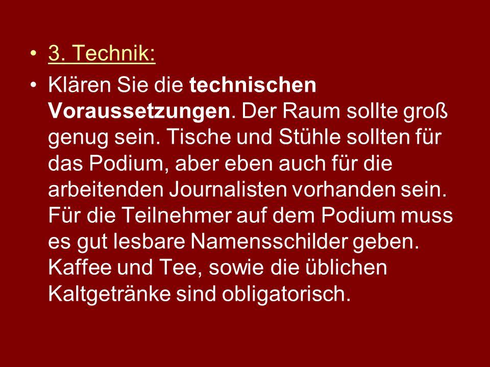 3.Technik: Klären Sie die technischen Voraussetzungen.