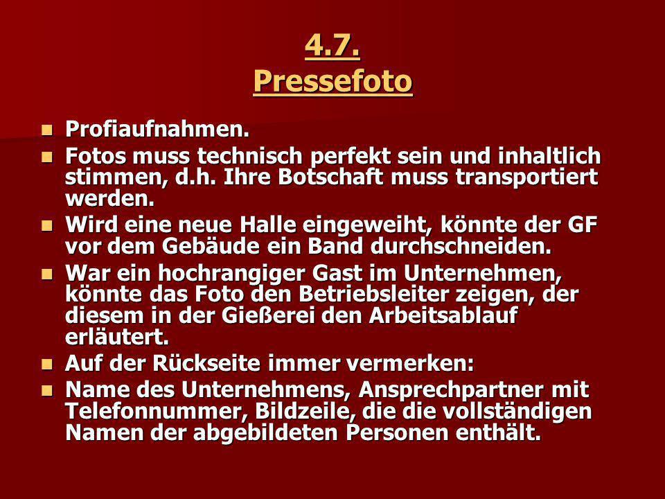 4.7.Pressefoto Profiaufnahmen. Profiaufnahmen.