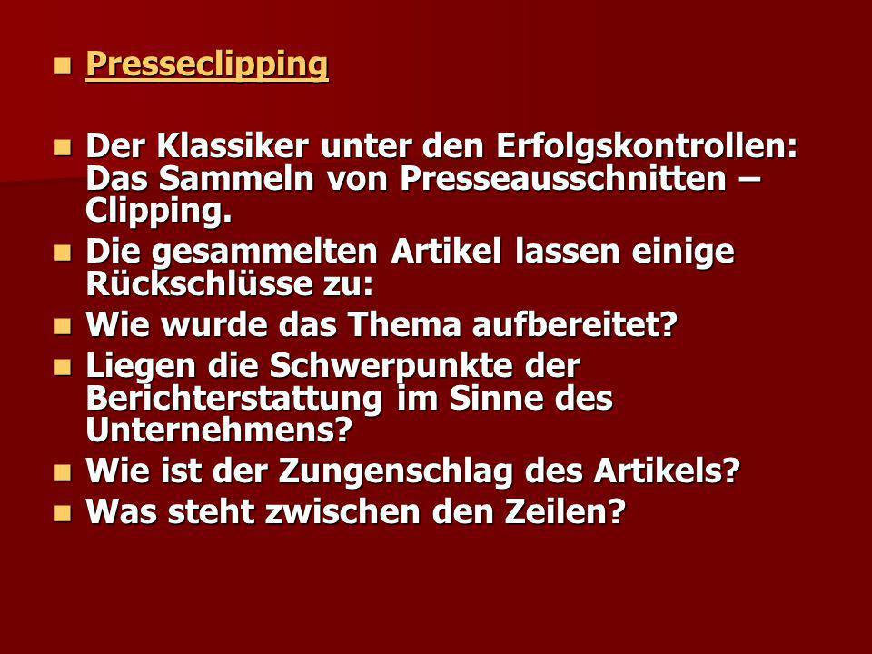 Presseclipping Presseclipping Der Klassiker unter den Erfolgskontrollen: Das Sammeln von Presseausschnitten – Clipping. Der Klassiker unter den Erfolg