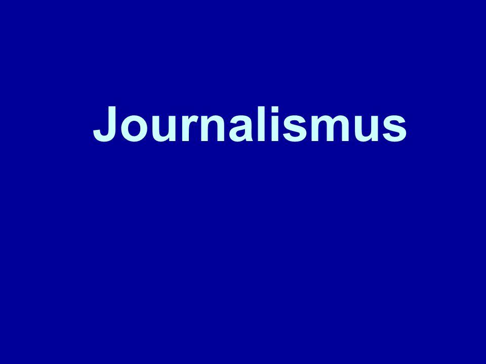 Journalismus bezeichnet die periodische publizistische Arbeit bei der Presse,Presse im Rundfunk und in Online-Medien.RundfunkOnline-Medien Zur Entstehung des Journalismus siehe den eigenen Beitrag Geschichte des Journalismus, zur wissenschaftlichen Beschäftigung mit dem Journalismus sieheGeschichte des Journalismus Journalistik, Publizistik, Kommunikationswissenschaft.JournalistikPublizistik Kommunikationswissenschaft