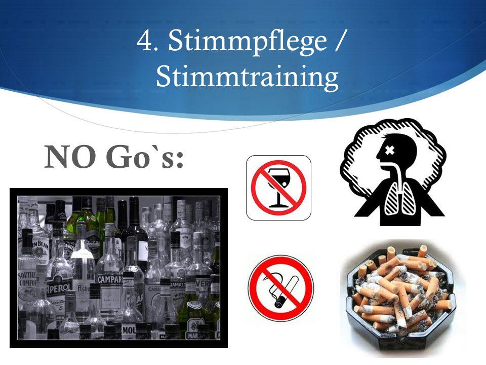 4.Stimmpflege / Stimmtraining  Strecken, Gähnen u.
