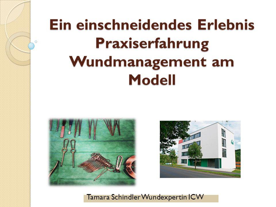 Ein einschneidendes Erlebnis Praxiserfahrung Wundmanagement am Modell Tamara Schindler Wundexpertin ICW