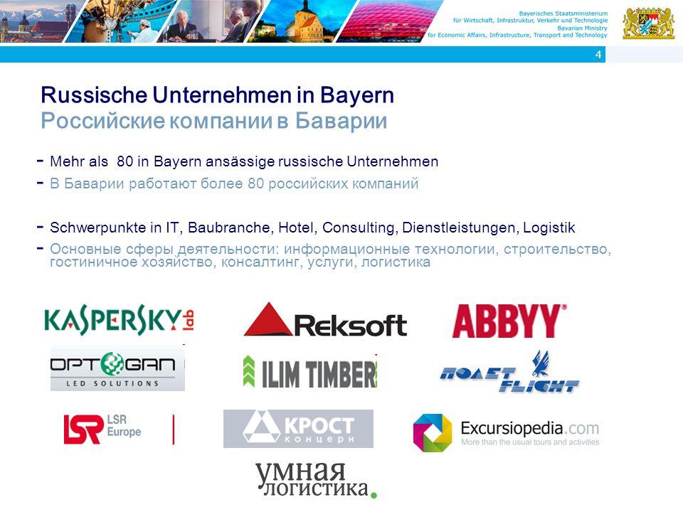 Warum siedeln sich russische Unternehmen in Bayern an.