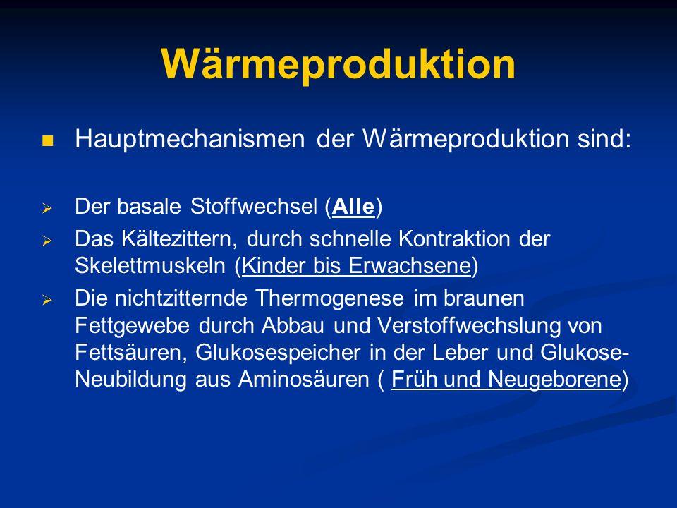 Praktisches Vorgehen 1.Optimale Temperaturdifferenz zentral-peripher < 1,5 - 2°C 2.