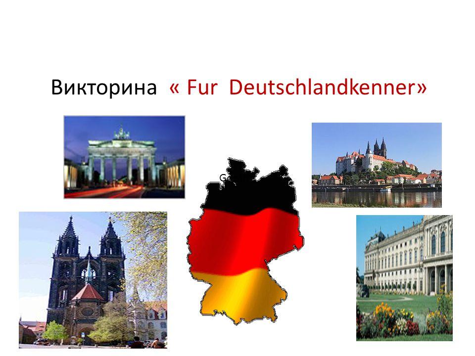 Викторина « Fur Deutschlandkenner» Goethe