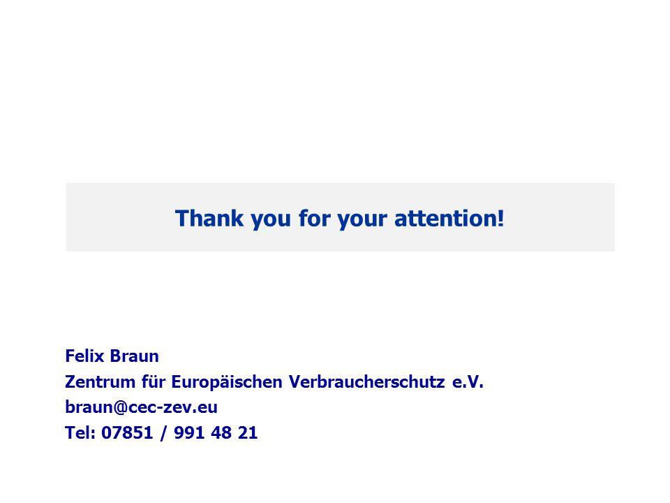 Felix Braun Zentrum für Europäischen Verbraucherschutz e.V.