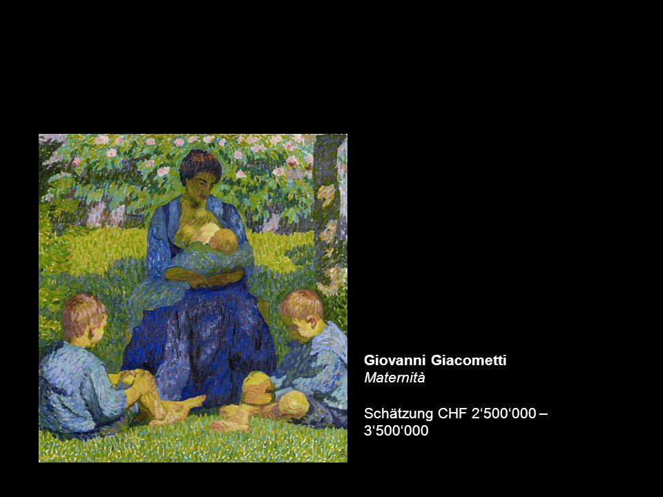 Giovanni Giacometti Maternità Schätzung CHF 2'500'000 – 3'500'000