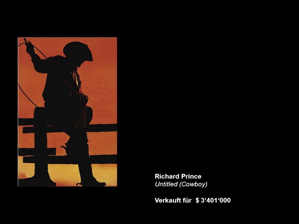 Richard Prince Untitled (Cowboy) Verkauft für $ 3'401'000