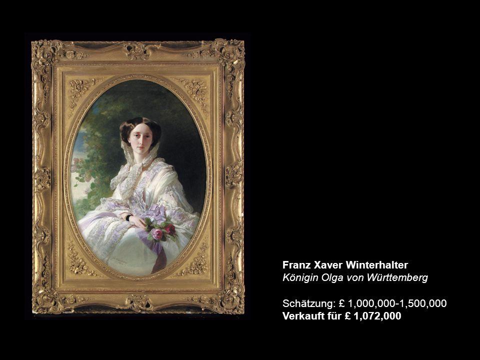 Franz Xaver Winterhalter Königin Olga von Württemberg Schätzung: £ 1,000,000-1,500,000 Verkauft für £ 1,072,000