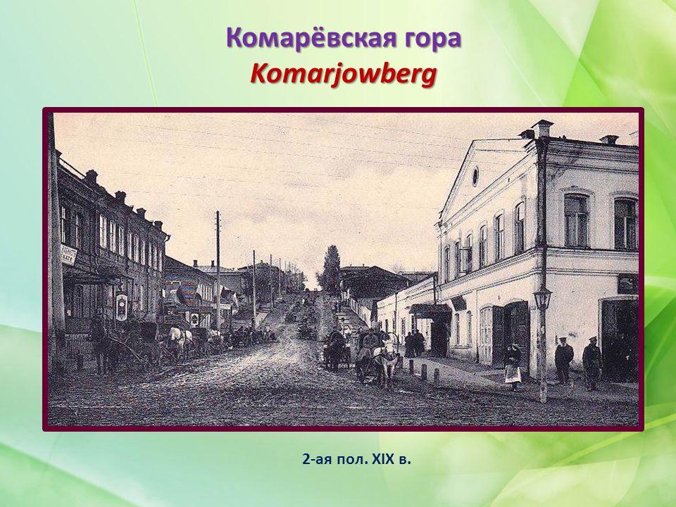 Комарёвская гора Komarjowberg 2-ая пол. XIX в.