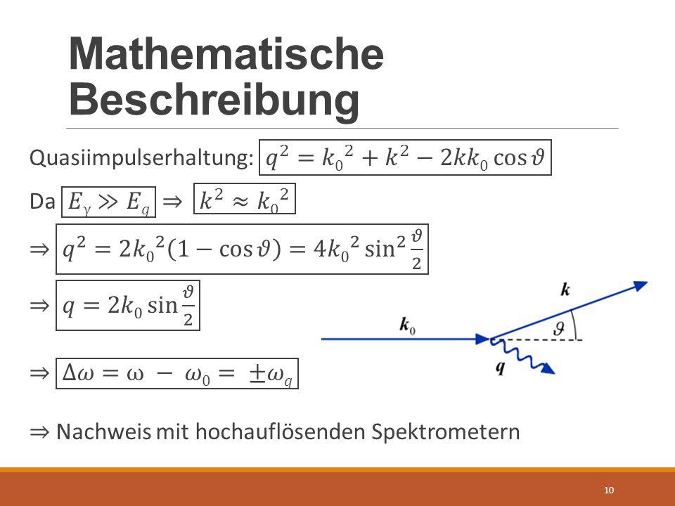 Mathematische Beschreibung 10