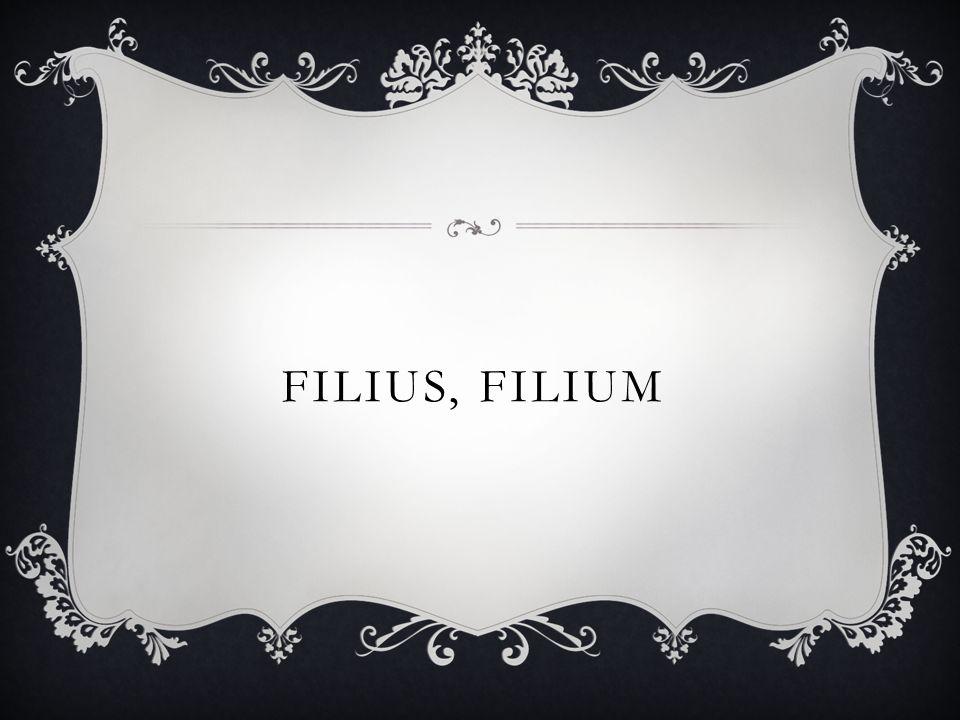 FILIUS, FILIUM