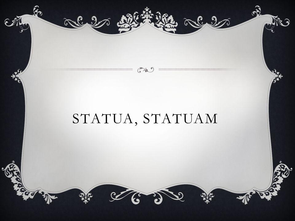 STATUA, STATUAM