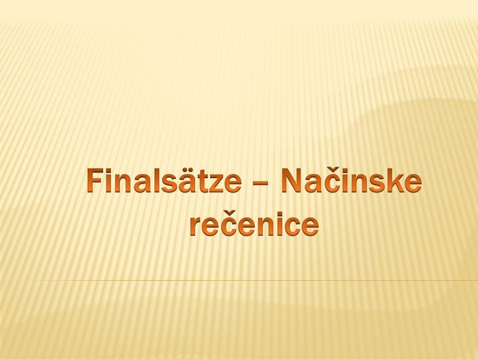  Subject in Haupt – und Nebenzatz untersdilledlich ( različit subjekat ).