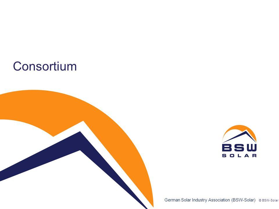 German Solar Industry Association (BSW-Solar) Consortium © BSW-Solar 3