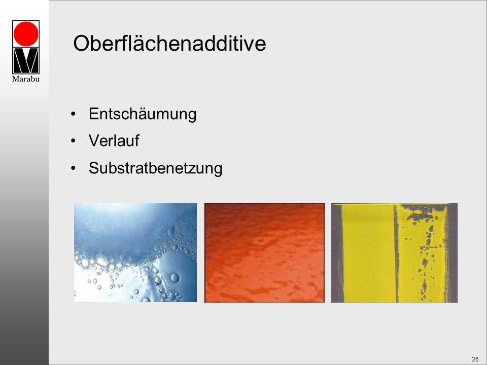 36 Oberflächenadditive Entschäumung Verlauf Substratbenetzung