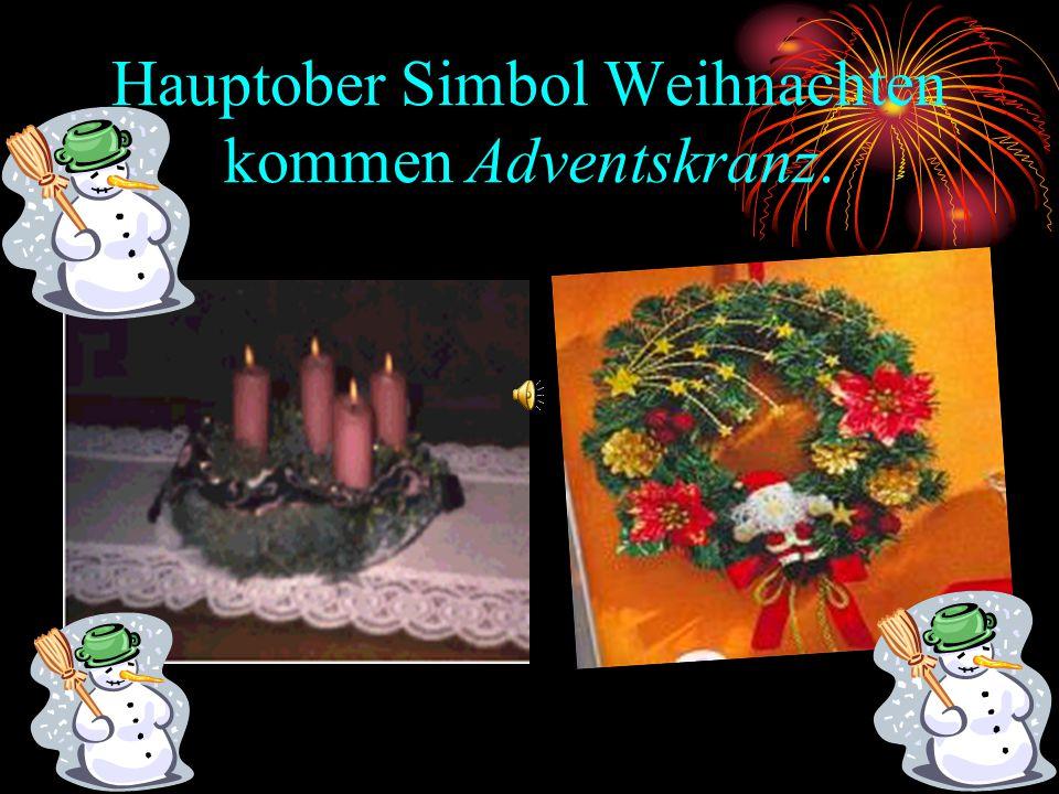 Hauptober Simbol Weihnachten kommen Adventskranz.