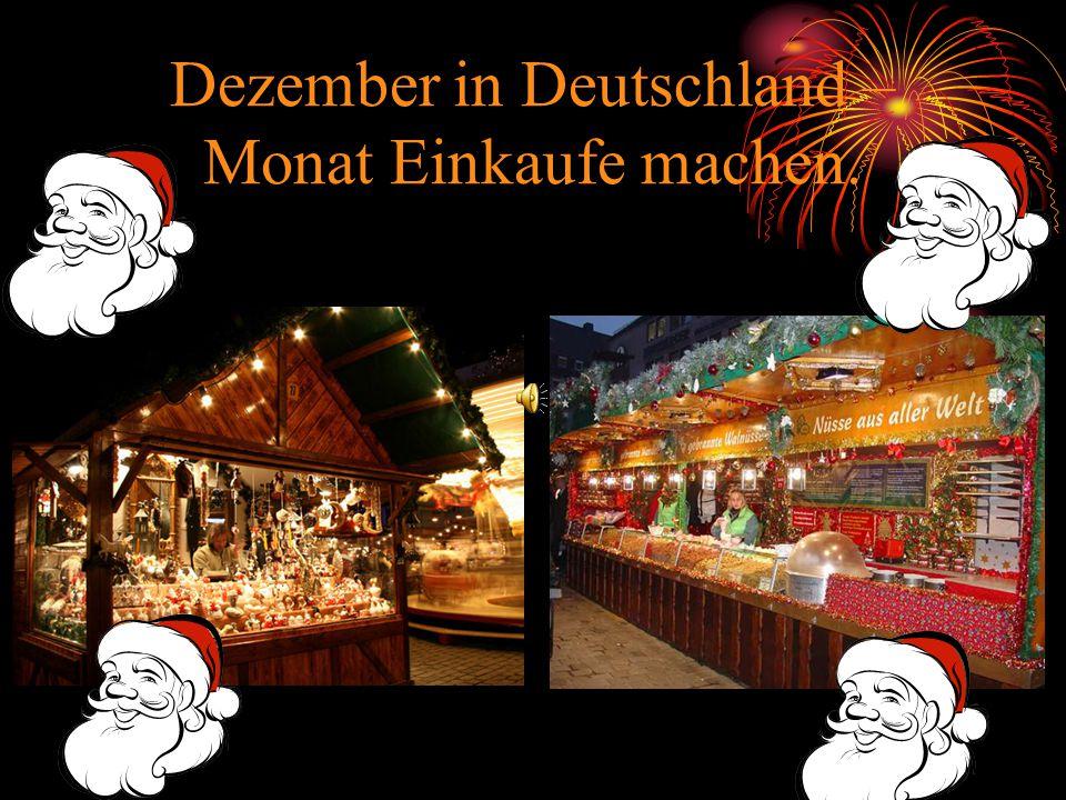 Dezember in Deutschland – Monat Einkaufe machen.