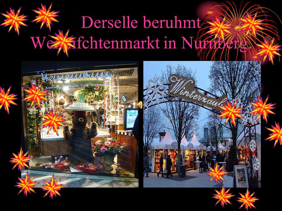 Derselle beruhmt Weihnfchtenmarkt in Nurnberg.