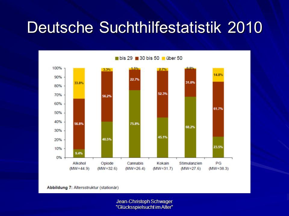 Jean-Christoph Schwager Glücksspielsucht im Alter Deutsche Suchthilfestatistik 2010