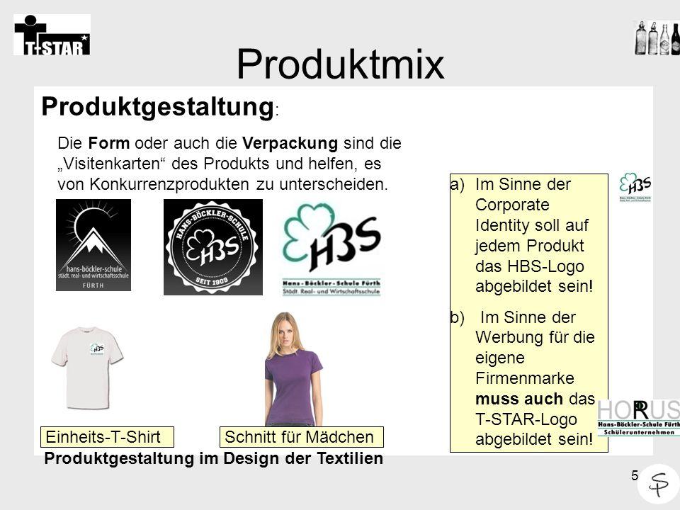 6 Produktmix HBS-T- Shirt Ein bestehendes Produkt wird verändert Z.
