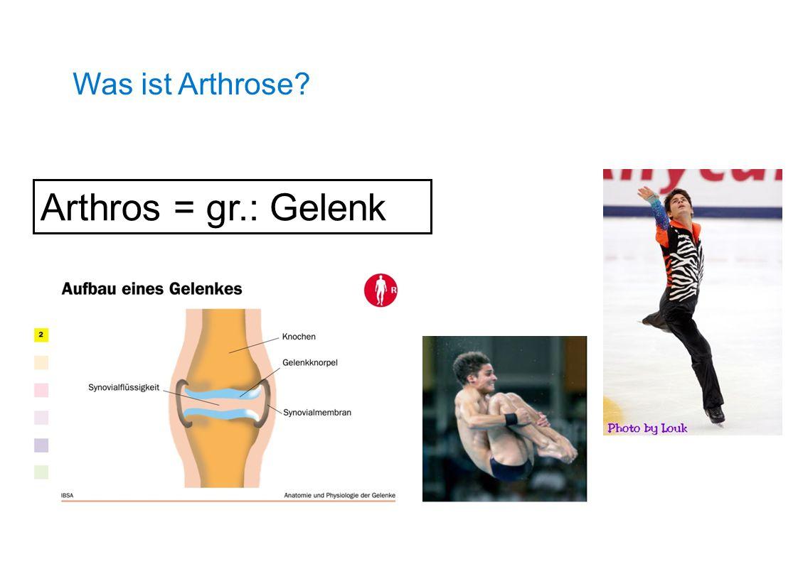 Was ist Arthrose? Arthros = gr.: Gelenk