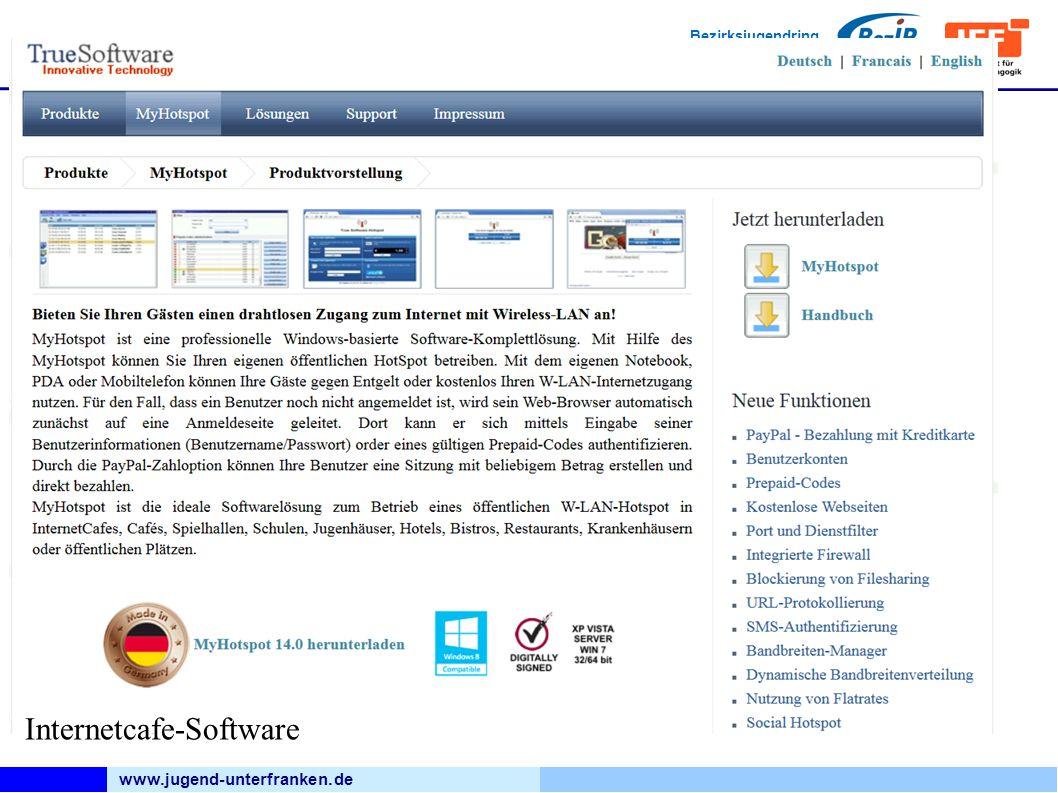 www.jugend-unterfranken.de Bezirksjugendring Unterfranken Medienfachberatung Internetcafe-Software