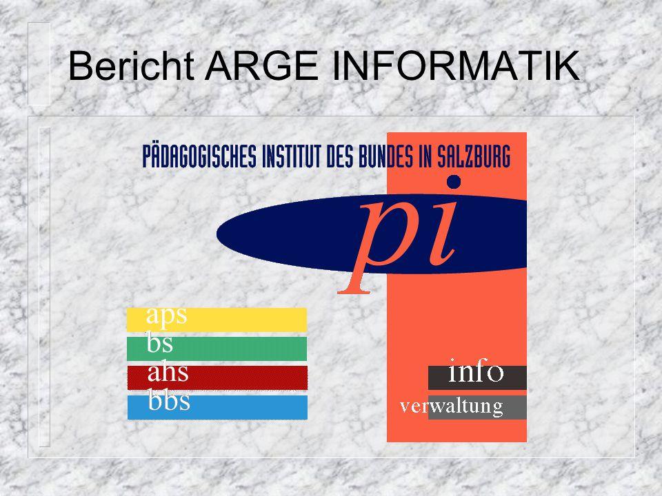Bericht ARGE INFORMATIK