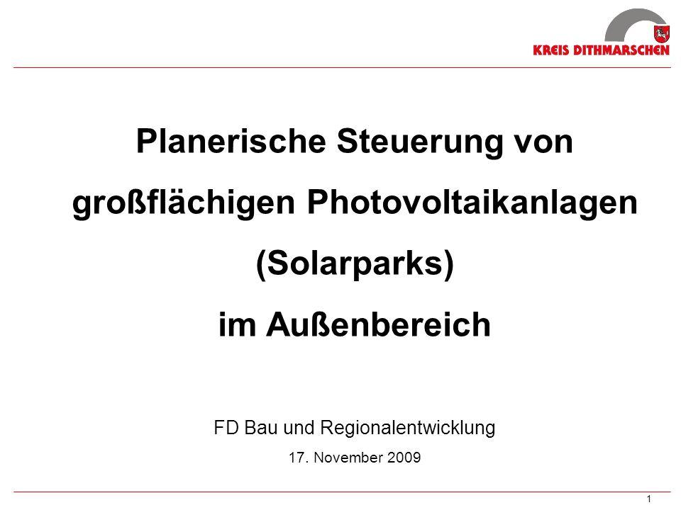 2 Gliederung I.Ausgangslage II. Gute Gründe für Solarparks III.