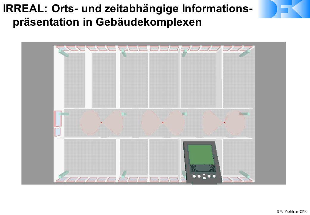 © W. Wahlster, DFKI IRREAL: Orts- und zeitabhängige Informations- präsentation in Gebäudekomplexen