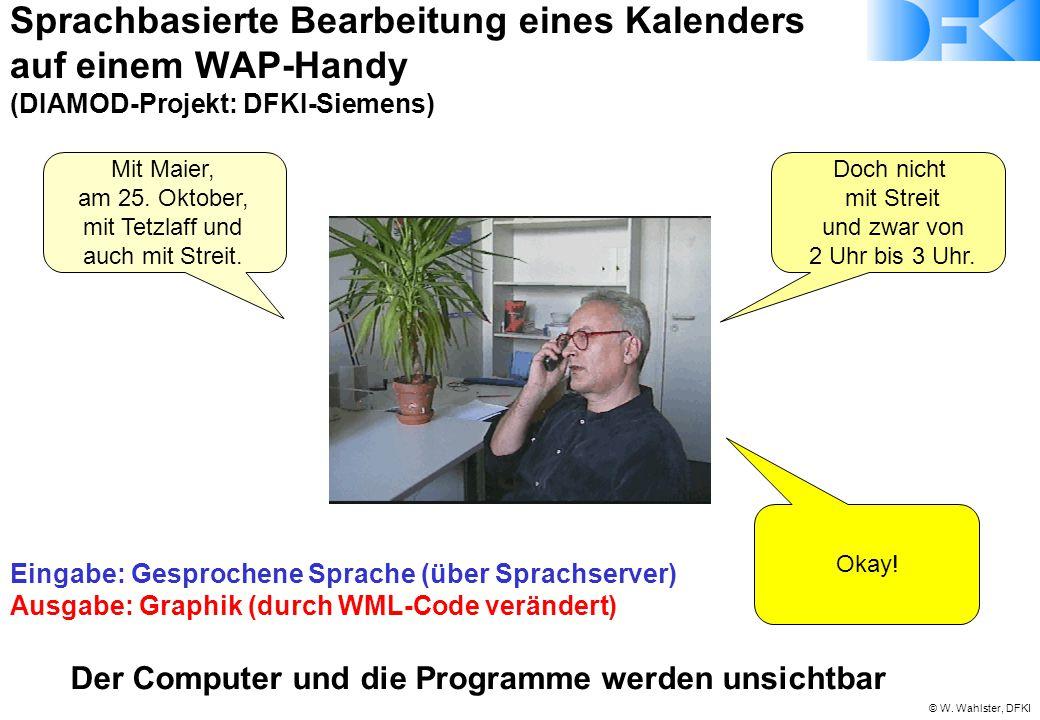 © W. Wahlster, DFKI Mit Maier, am 25. Oktober, mit Tetzlaff und auch mit Streit. Doch nicht mit Streit und zwar von 2 Uhr bis 3 Uhr. Okay! Sprachbasie