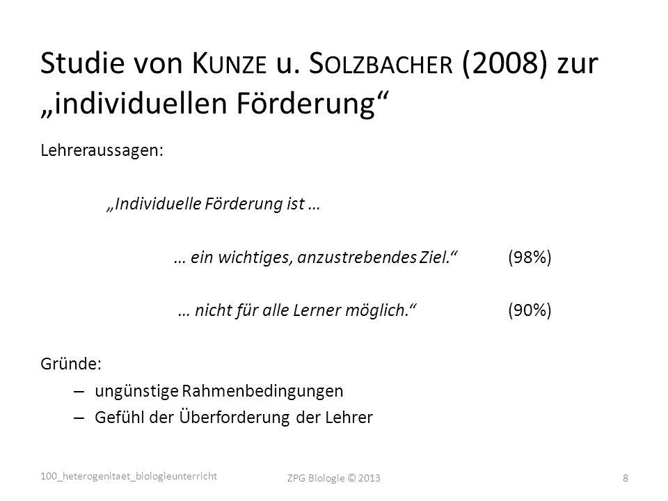 Studie von K UNZE u.